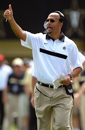 Ballin': James Franklin makes the rounds in Vandy's new recruiting copter
