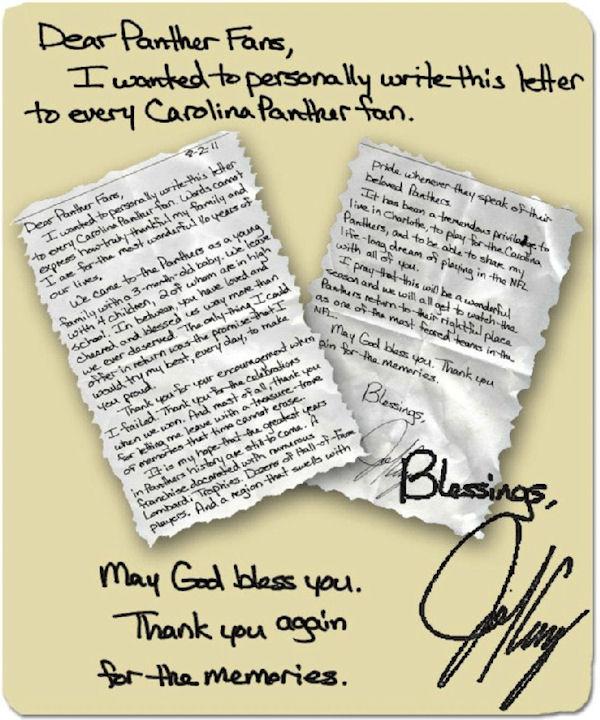 John Kasay leaves Carolina with a heartfelt letter to fans
