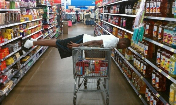 Image result for planking in grocery store