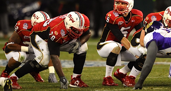 Booted Maryland lineman allegedly punched bar manager in the face