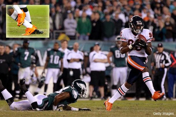 Earl Bennett's fancy orange shoes get him fined $5,000 by NFL