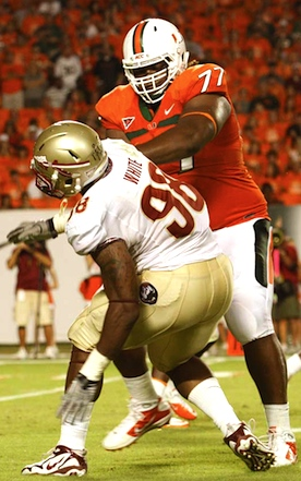 Another day, another hurdle for Seantrel Henderson: 'Cane behemoth facing preseason surgery