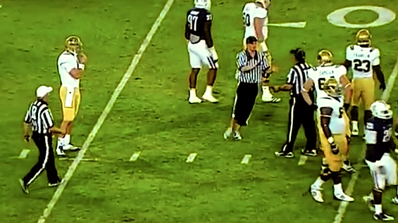 Video: Streaker dressed as ref blows a play dead in the UCLA-Arizona game. Then it gets crazy.