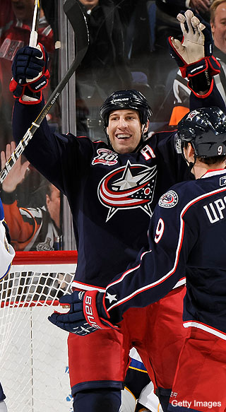 R.J. Umberger's 5-year vote of confidence in Blue Jackets