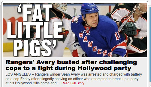 Video: Sean Avery bailed out; TMZ with arrest details