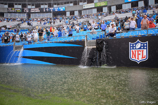Panthers/Jaguars game improved by monsoon conditions
