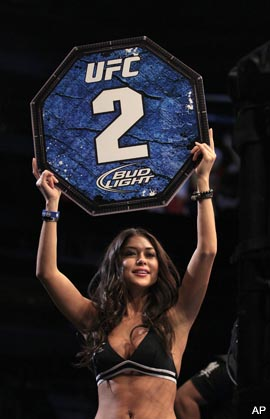 Chael Sonnen and Arianny Celeste engage in war of words