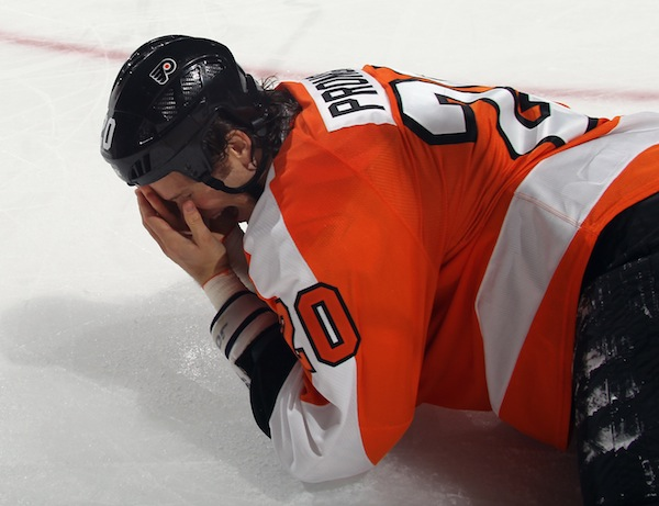 Flyers confirm the obvious: Chris Pronger's concussion