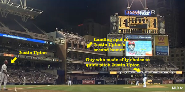 This is what happens when you quick pitch Justin Upton