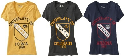 Old Navy forgot to fact check its new collegiate T-shirt line