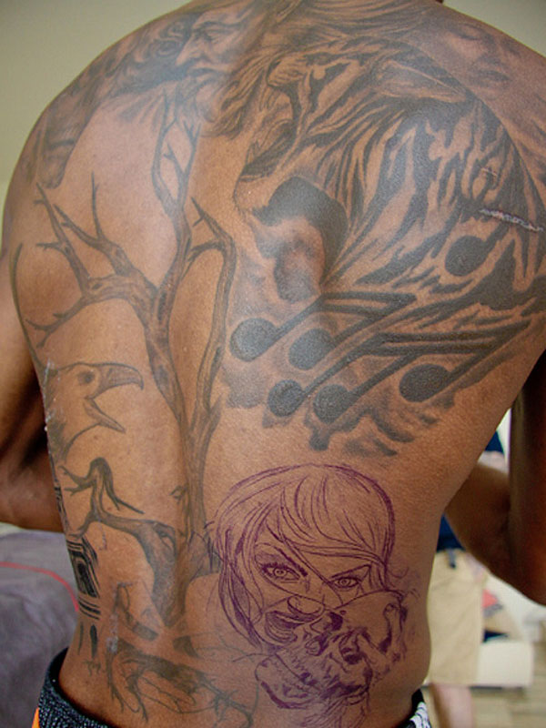 Chris Bosh's massive back tattoo