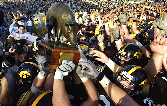 Iowa, Nebraska dedicate the Big Ten's newest rivalry trophy to the 'heroes'