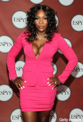 Photos: Serena Williams' plunging minidress steals show at ESPYs