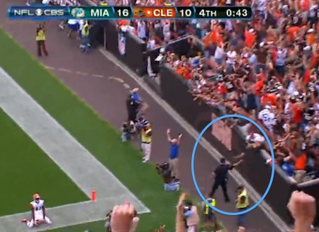 Video: Browns fan celebrates game-winning touchdown on field