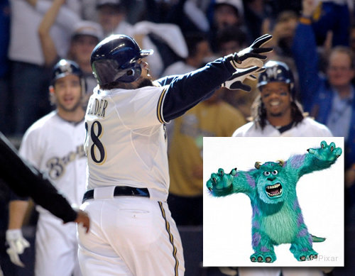 They're 'Monsters, Inc': Fielder, Braun put Brewers in 'Beast Mode'