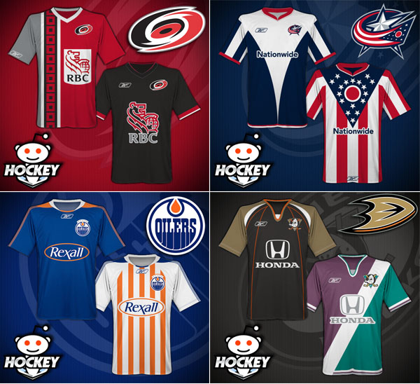 NHL jerseys re-imagined as soccer kits? Yes, please