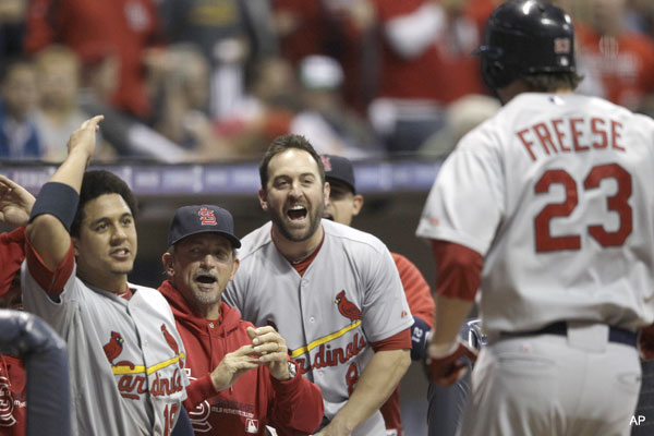 David Freese's early homer seals claim on NLCS MVP