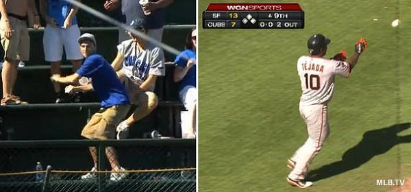 Cubs fan's incredible throw returns Tejada homer to Giants dugout