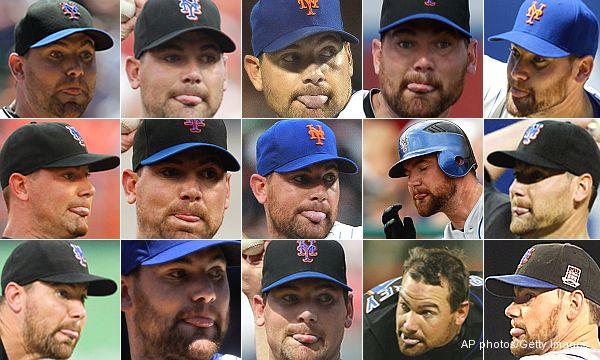 Report: Mets' Mike Pelfrey licks himself 89 times in game