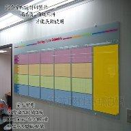 普普磁性玻璃白板