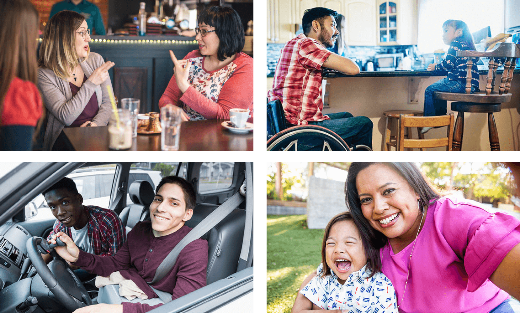 A selection of the high-quality images from The Disability Collection showing people with various disabilities in everyday life.