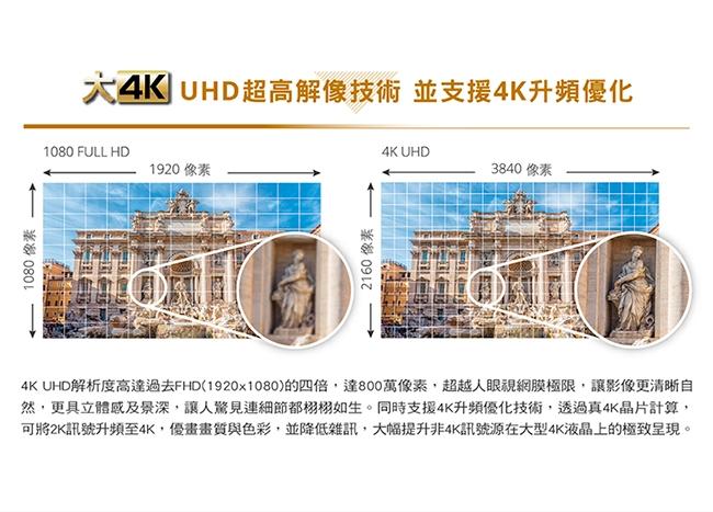 CHIMEI奇美 65吋 4K HDR低藍光智慧連網液晶電視 TL-65M500