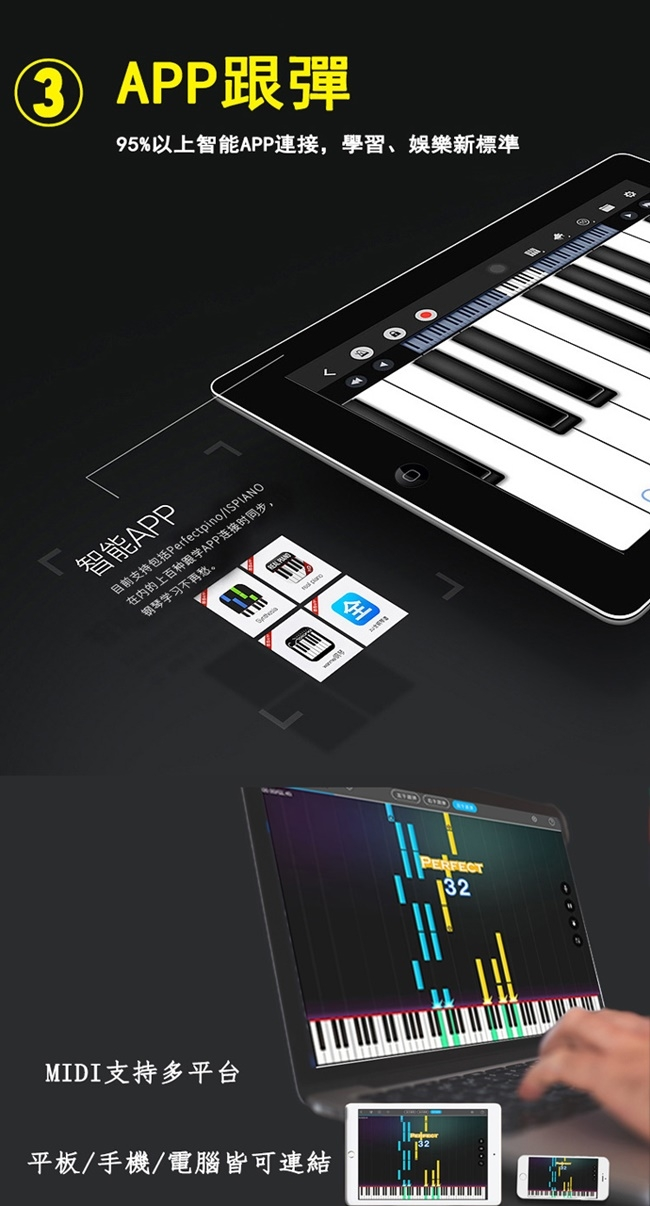 傳揚TPLAN 手捲式88鍵鋼琴 智慧多功能攜帶型電子琴 (TP-88)