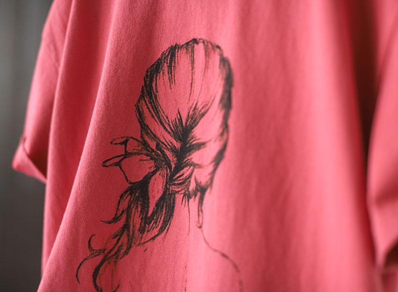 純棉印花圓領T恤寬鬆休閒韓版短袖上衣-設計所在