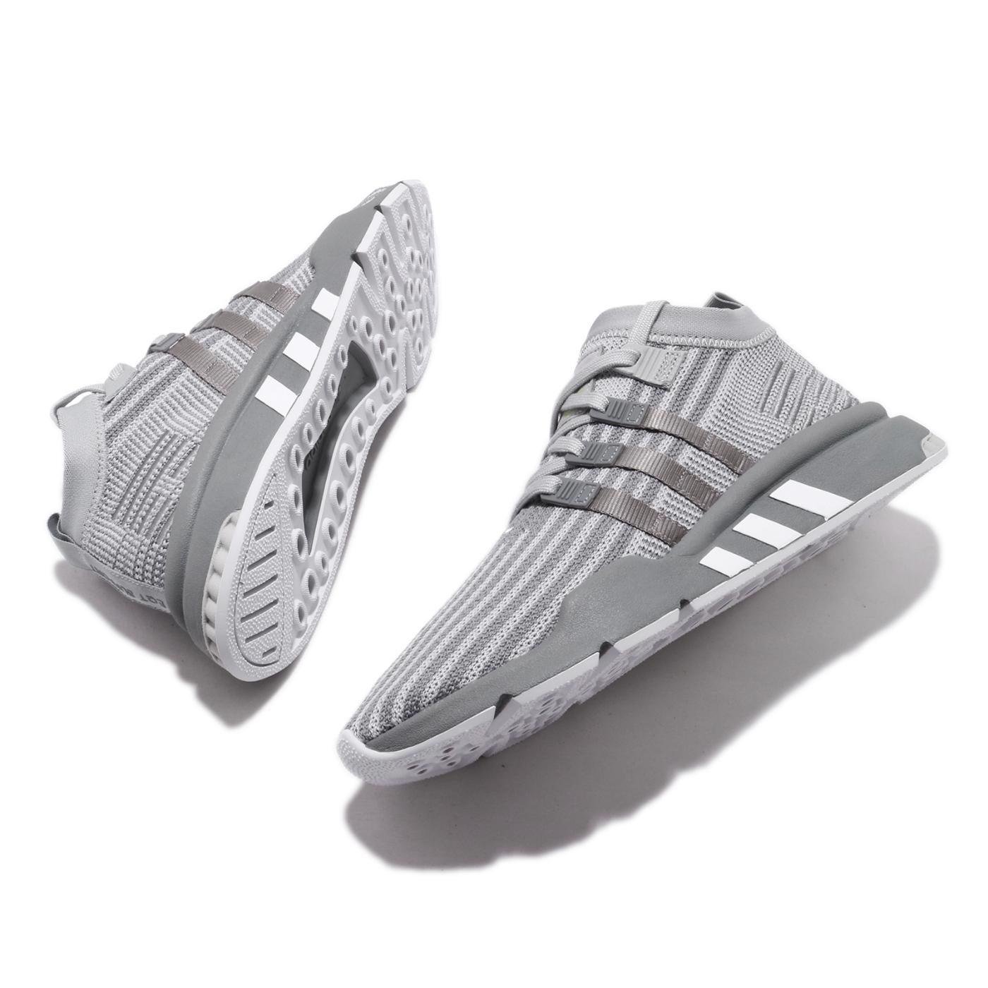adidas 休閒鞋 EQT Support Mid ADV 男鞋 愛迪達 三葉草 襪套式 流行款 穿搭推薦 灰 白 B37407