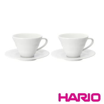 HARIO V60白色雲朵咖啡杯盤組2入 / CCS-5012W