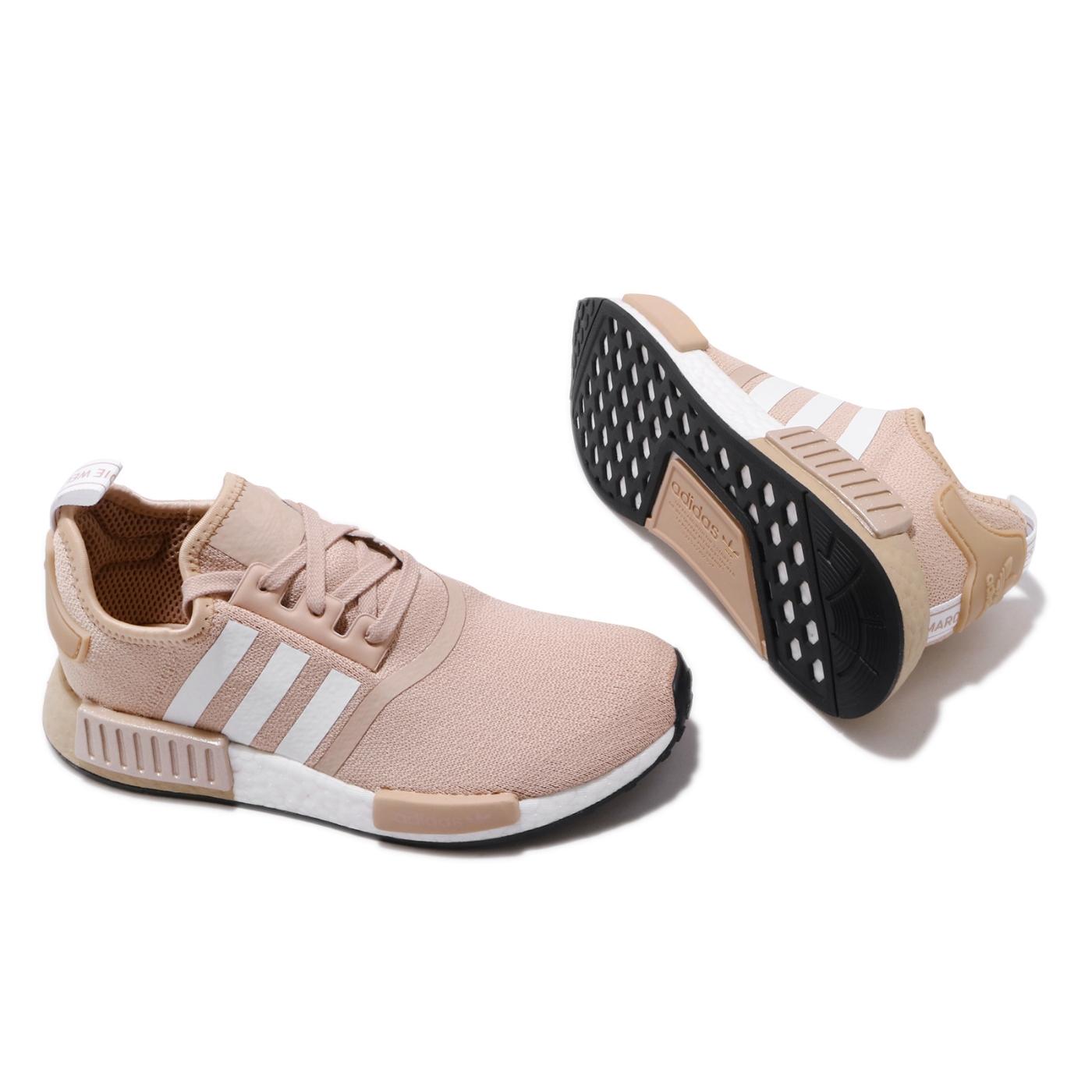 adidas 休閒鞋 NMD R1 襪套式 女鞋 海外限定 愛迪達 三葉草 流行穿搭 黃褐 白 FV2474
