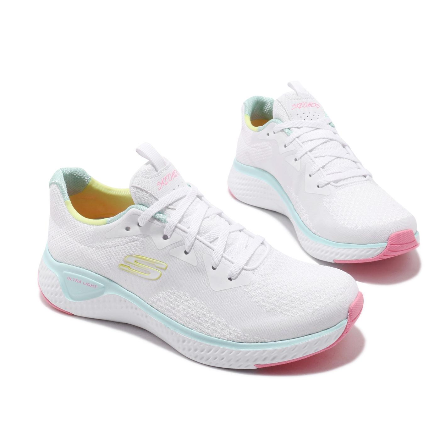 Skechers 慢跑鞋 Solar Fuse 運動休閒 女鞋 輕量 避震 粉嫩色系 球鞋穿搭 白 黃 粉 13328WMLT