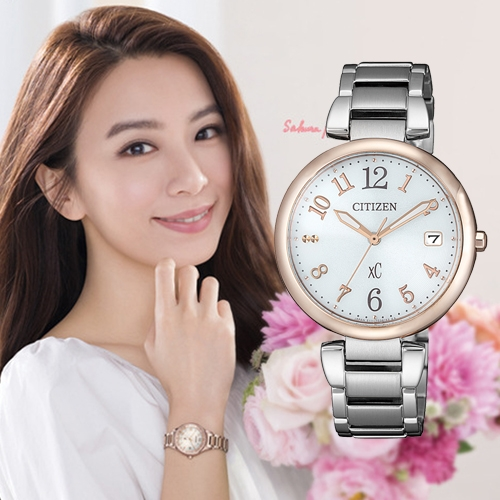 (無卡分期6期)CITIZEN星辰xC柔美率性廣告款光動能女錶(EO1195-51A)