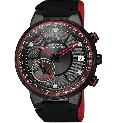 (無卡分期12期)CITIZEN星辰GPS衛星對時光動能手錶(CC3079-11E)-紅