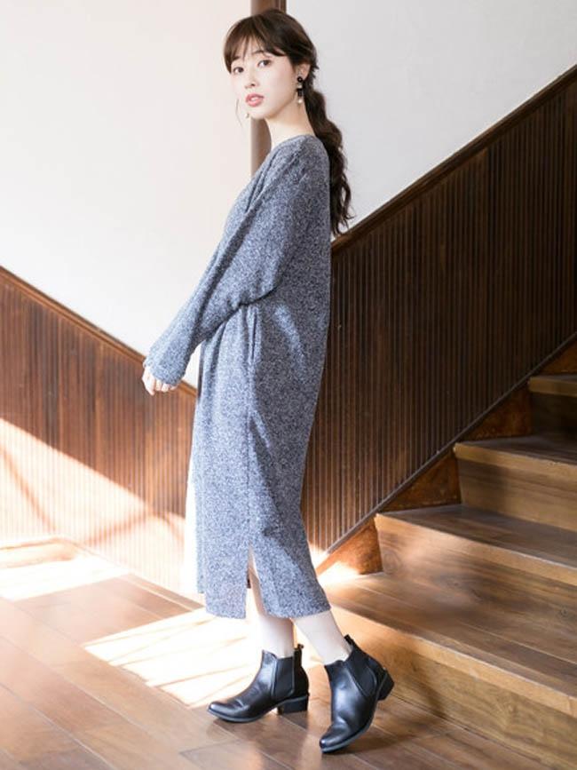 長 版 針織 洋裝