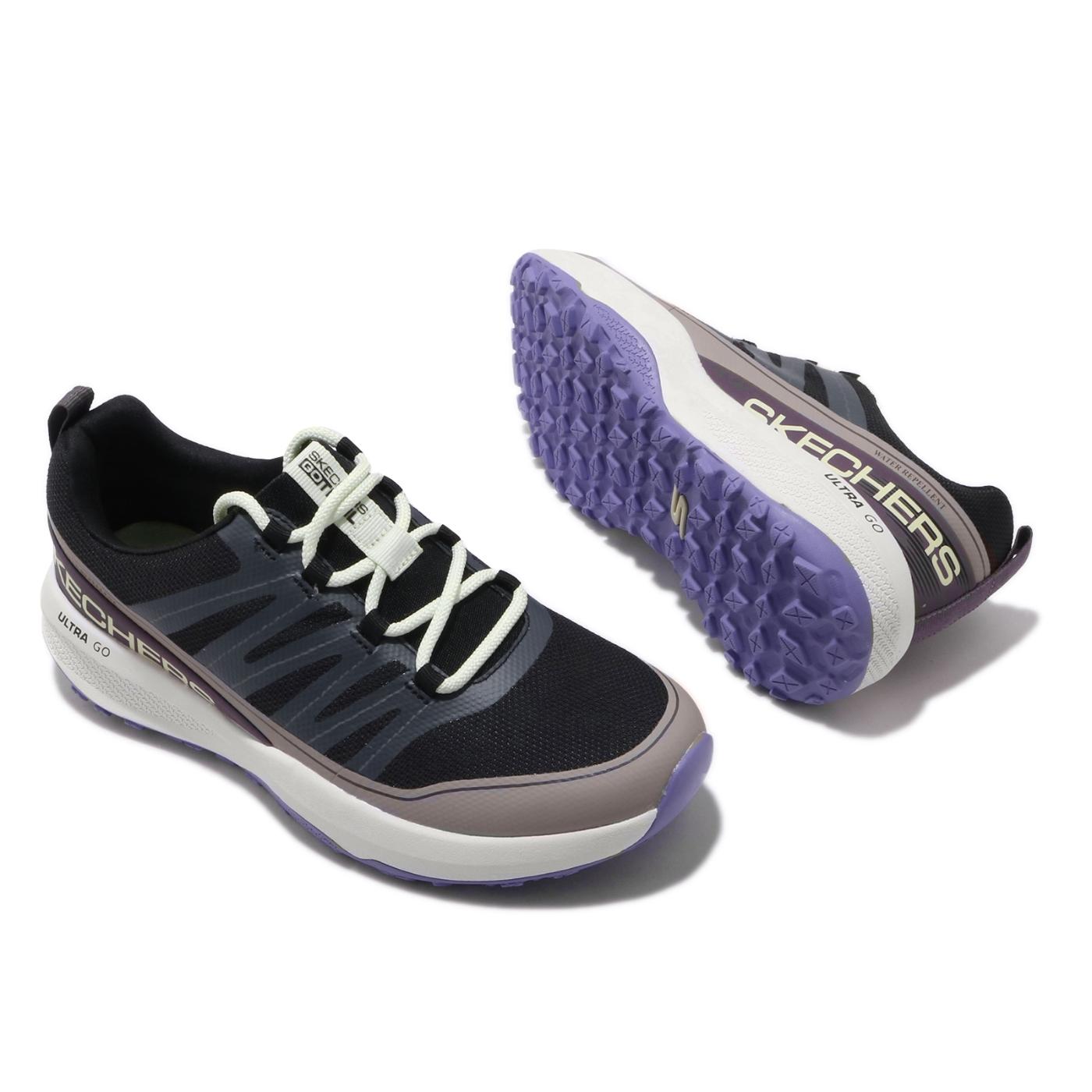 Skechers 野跑鞋 Go Trail Jackrabbit 女鞋 戶外 越野大底 耐磨 透氣 運動休閒 黑 紫 128067BKMT