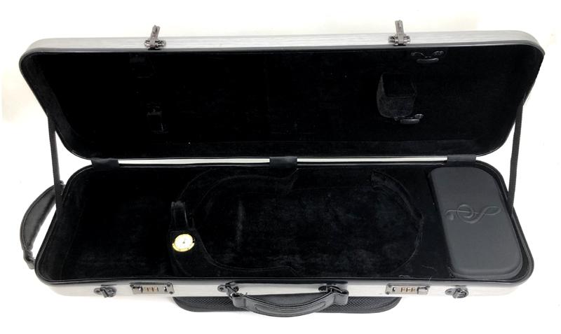 JYC Music JV-4002銀色刷線~4/4小提琴四方盒(具備樂譜收納袋)