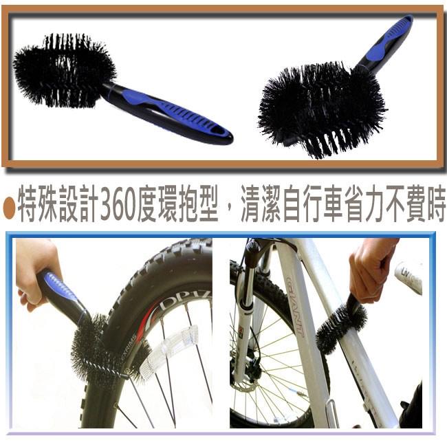 鐵馬行環型車管輪胎清潔刷-3入-快