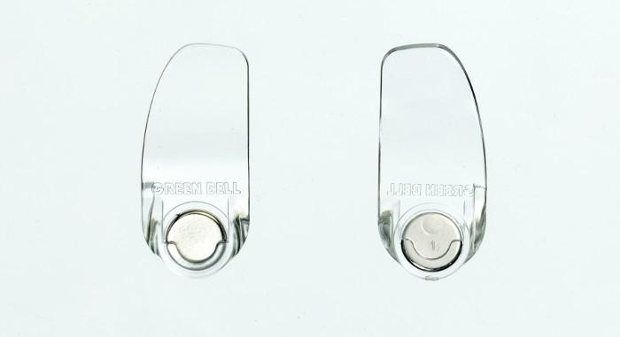 海夫健康生活館 日本GB綠鐘 匠之技 鍛造不銹鋼硬厚指甲鉗專用防屑彈蓋 G-1034 三入