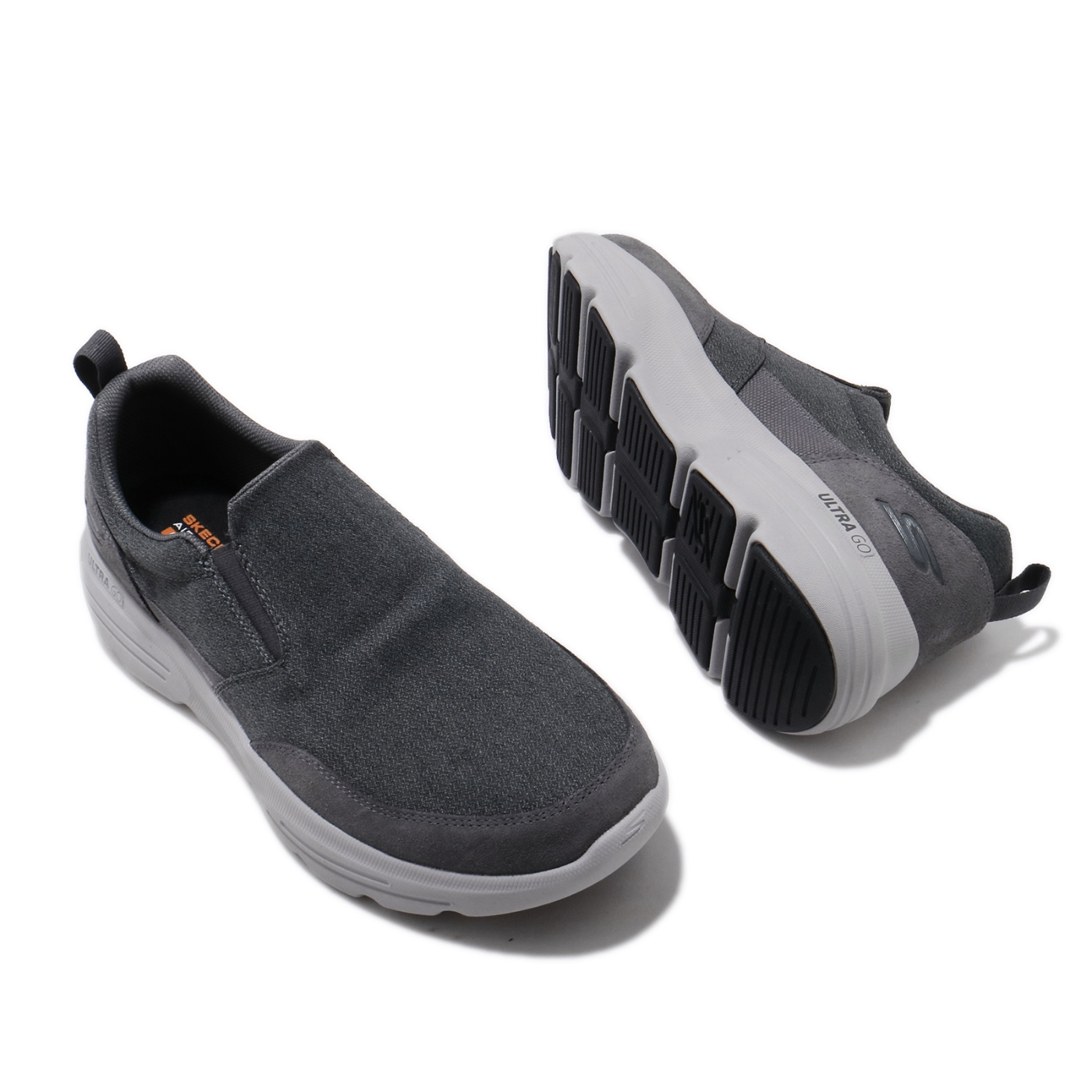 Skechers 休閒鞋 Go Walk Duro 套入式 男鞋 踏青 健走 外出 輕便 好穿脫 懶人鞋 灰 216008CHAR