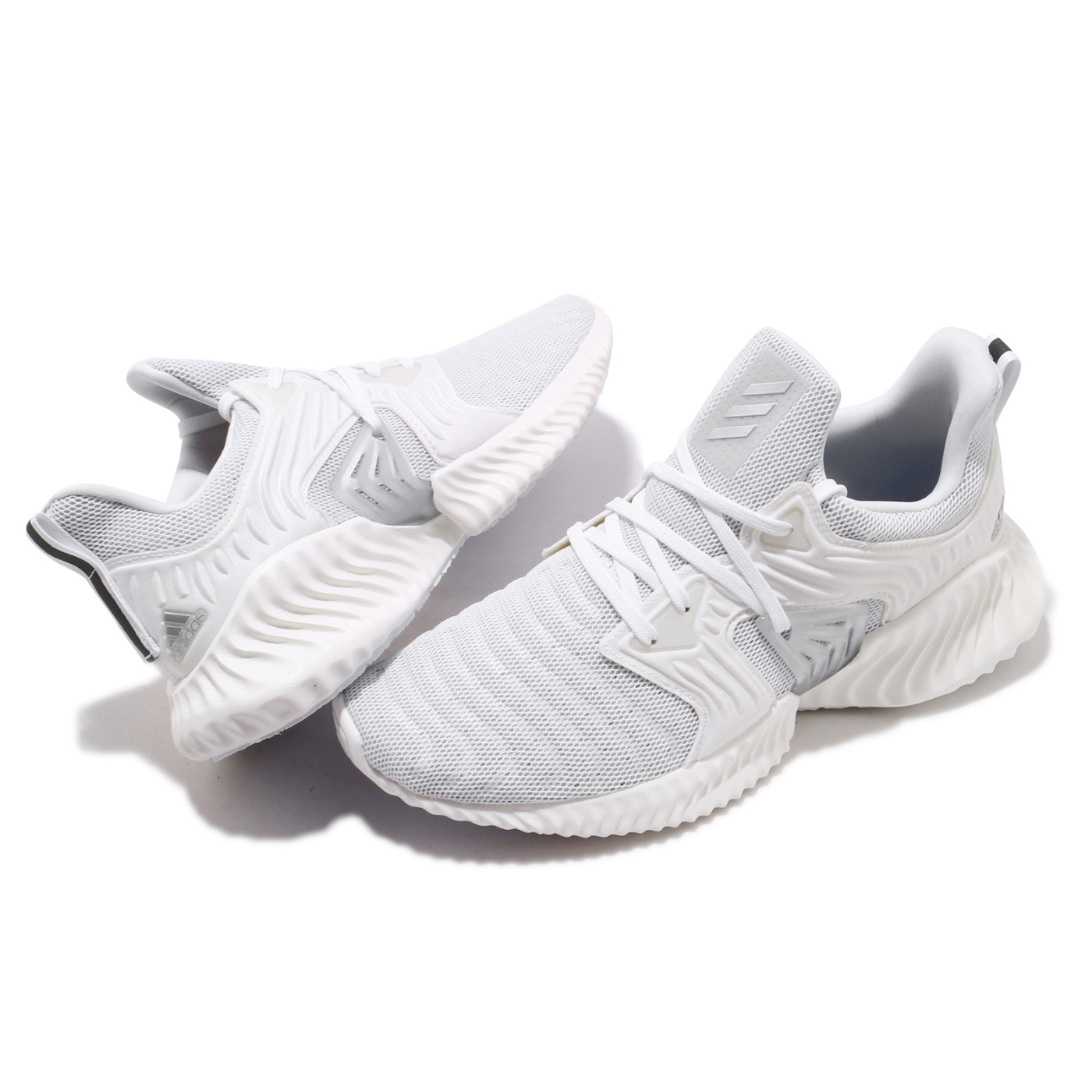 adidas 慢跑鞋 Alphabounce 運動休閒 男鞋 海外限定 愛迪達 緩震 路跑 球鞋穿搭 白 灰 EF1240