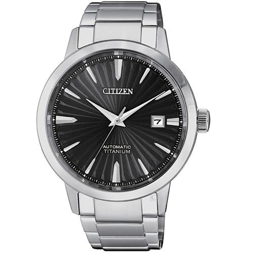 (無卡分期6期)CITIZEN星辰輕熟雅痞機械錶(NJ2180-89H)-黑