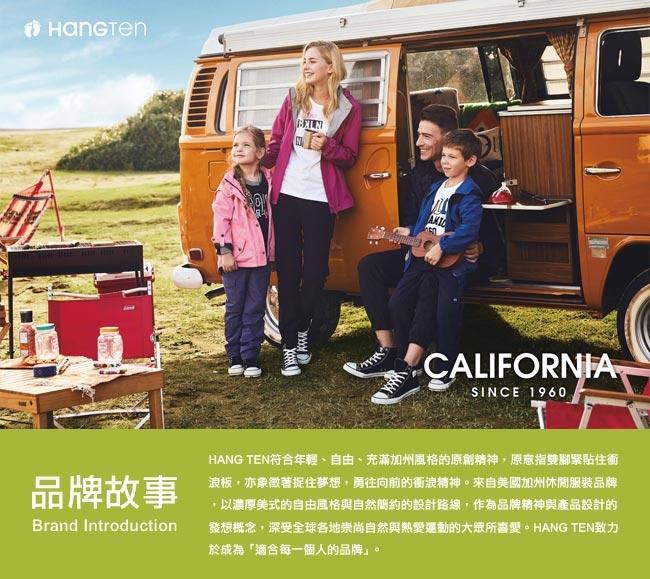 Hang Ten -女裝 - 有機棉-經典個性標語造型T - 藍