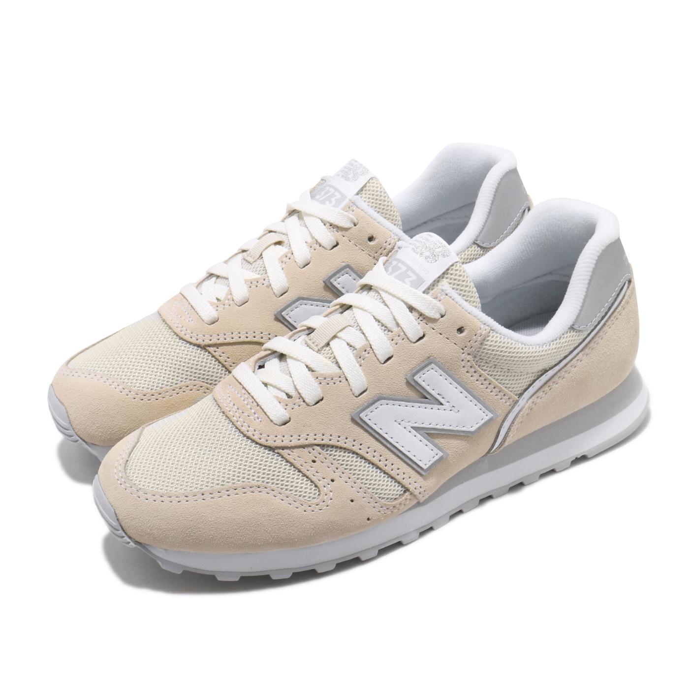 New Balance 休閒鞋 WL373AB2 B 運動 女鞋 紐巴倫 基本款 簡約 麂皮 舒適 穿搭 米白 銀 WL373AB2B