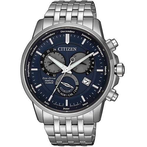 (無卡分期6期)CITIZEN星辰卓越非凡光動能手錶(BL8150-86L)-藍