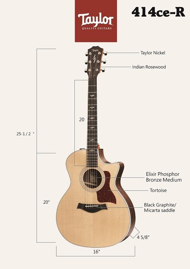 Taylor 414CE-R電木吉他