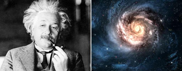 Albert Einstein and a distant galaxy (PA/Thinkstock)