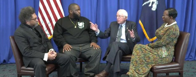 Sanders discusses Martin Luther King Jr.'s legacy
