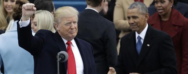 Donald Trump tras pronunciar su discurso / Associated Press