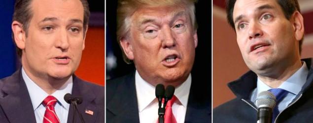 GOP candidates Donald Trump and Ted Cruz. (Reuters)